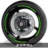Adhesivos de llantas vinilos para perfil de ruedas logo Kawasaki Z1000 speed