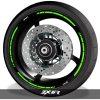 Vinilos de llantas adhesivos para perfil de ruedas logo Kawasaki ZX6R speed