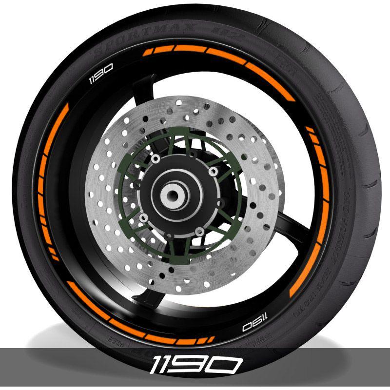 Vinilos de motos adhesivos para perfil de llantas logos KTM 1190 speed