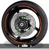 Pegatinas de motos adhesivos para perfil de llantas logos KTM speed
