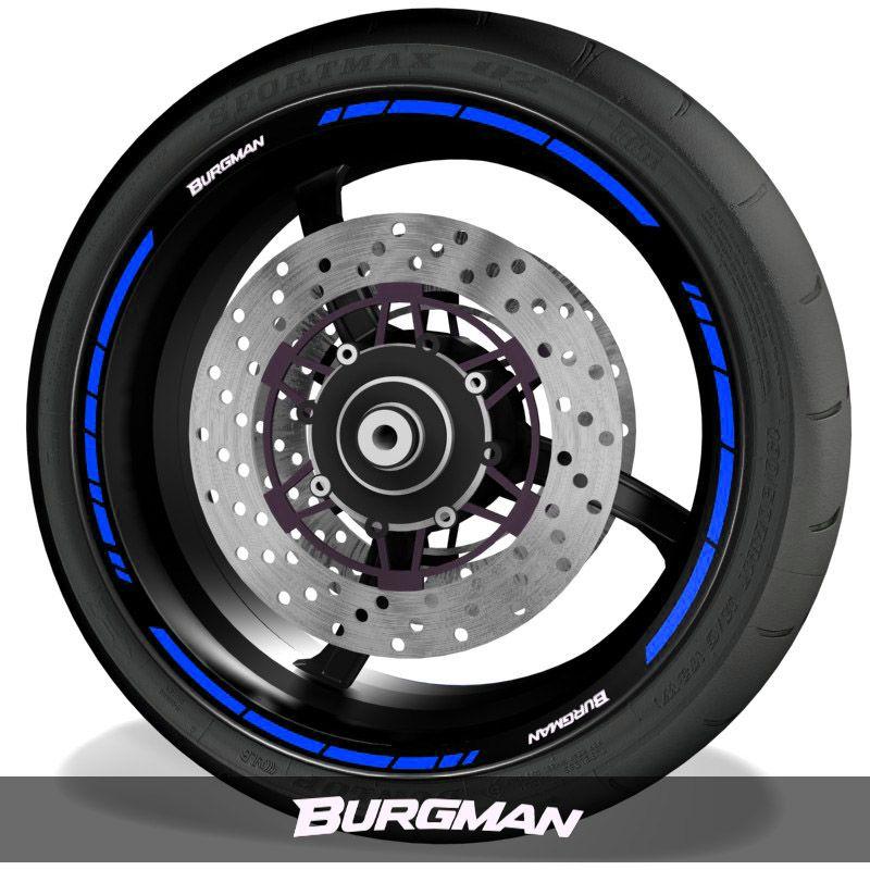 Vinilos y adhesivos para perfil de llantas de moto logos Suzuki Burgman speed