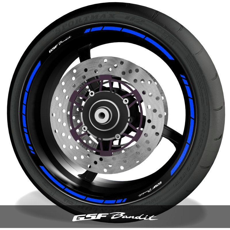 Pegatinas y adhesivos para perfil de llantas de moto logos Suzuki GSF Bandit speed