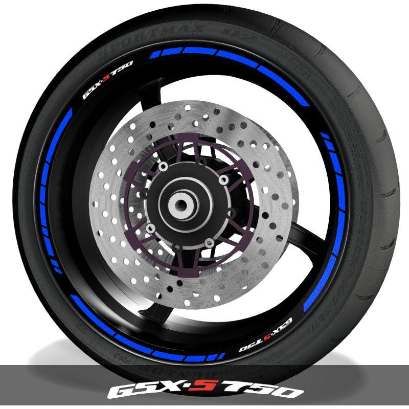 Adhesivos para perfil de llantas pegatinas de moto logos Suzuki GSXS750 speed