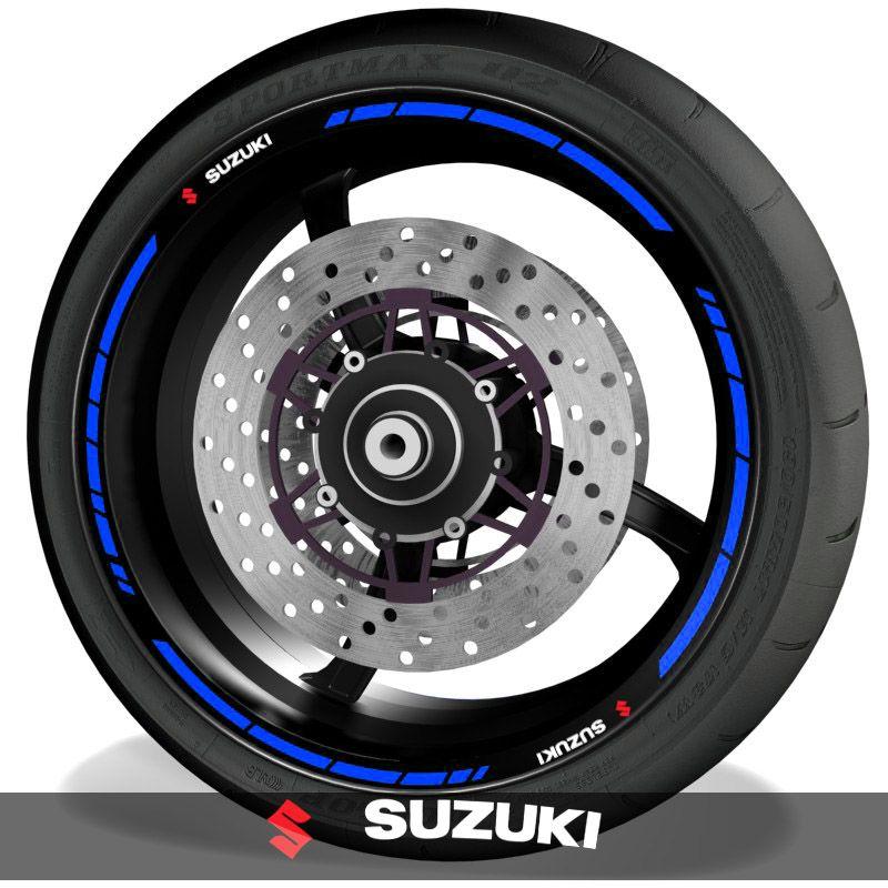Adhesivos y pegatinas para perfil de llantas de moto logos Suzuki speed