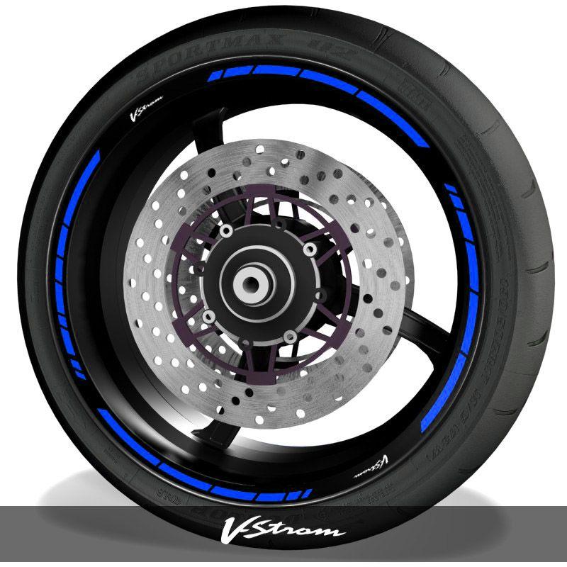 Adhesivos de moto vinilos para perfil de llantas logos Suzuki Vstrom speed