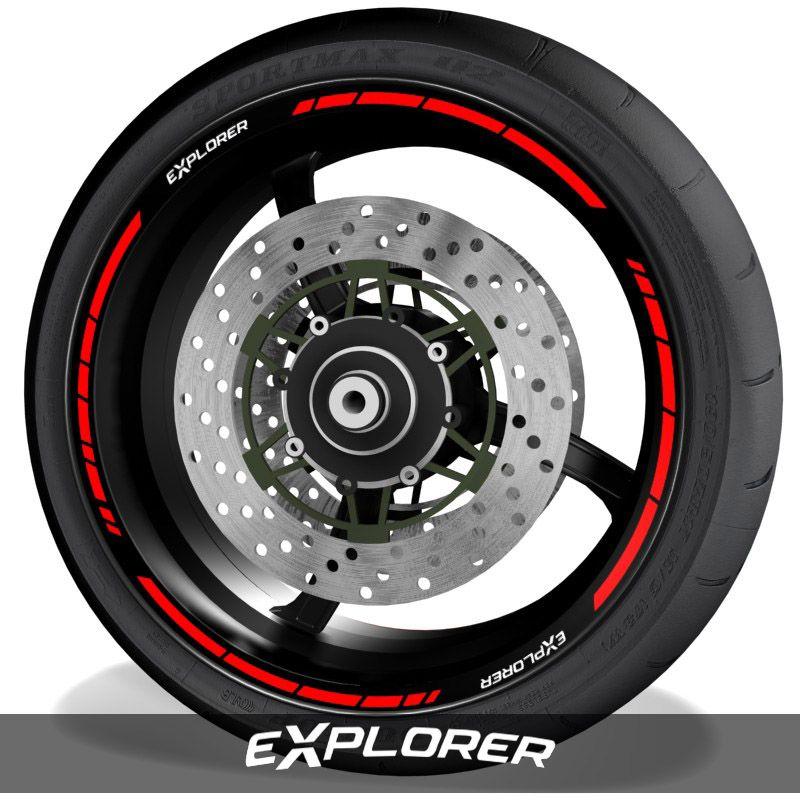 Adhesivos de motos vinilos para perfil de llantas logos Triumph Explorer speed