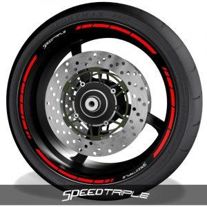 Vinilos de motos pegatinas para perfil de llantas logos Triumph Speedtriple speed