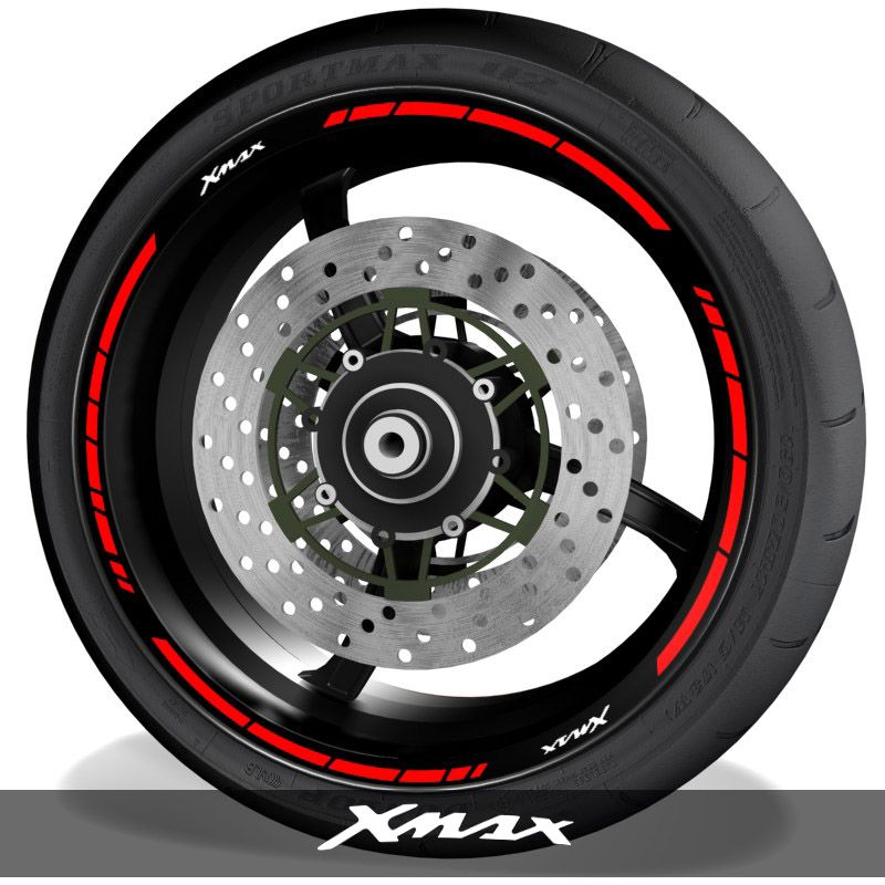 Vinilos y adhesivos para perfil de llantas de moto logos Yamaha XMax speed
