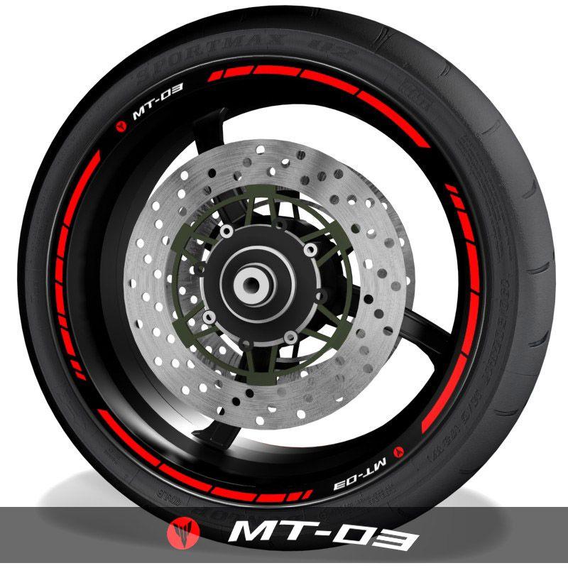 Adhesivos y vinilos para perfil de llantas de moto logos Yamaha MT03 speed