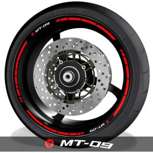 Pegatinas y adhesivos para perfil de llantas de moto logos Yamaha MT09 speed