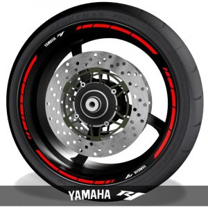 Pegatinas de motos vinilos para perfil de llantas logos Yamaha YZF R1 speed