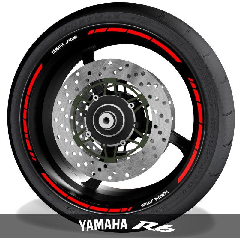 Adhesivos de motos vinilos para perfil de llantas logos Yamaha YZF R6 speed