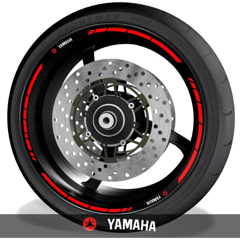 Vinilos de motos adhesivos para perfil de llantas logos Yamaha speed