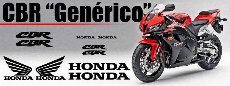 Esquema de los vinilos para el carenado de la Honda Genérico