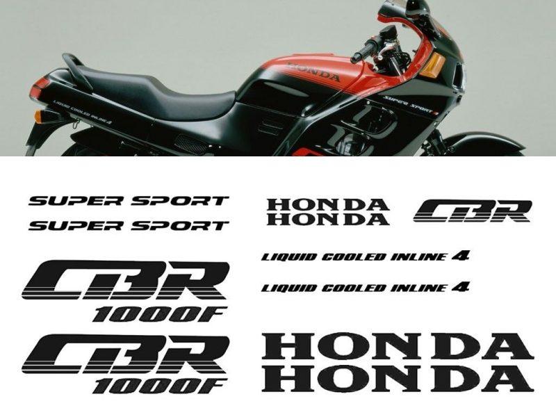 Kit de vinilos y pegatinas para el carenado de la Honda CBR1000F 1987