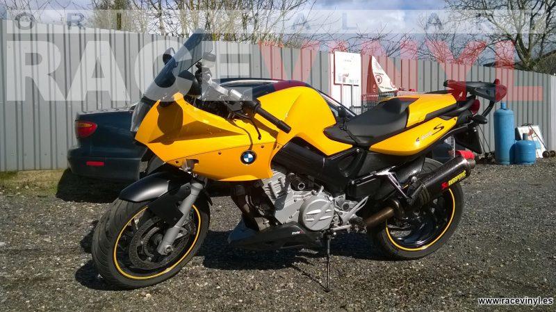 BMW F800S racevinyl vinilo llanta rueda pegatina adhesivo tuning vinyl sticker rim kit stripe amarillo 020
