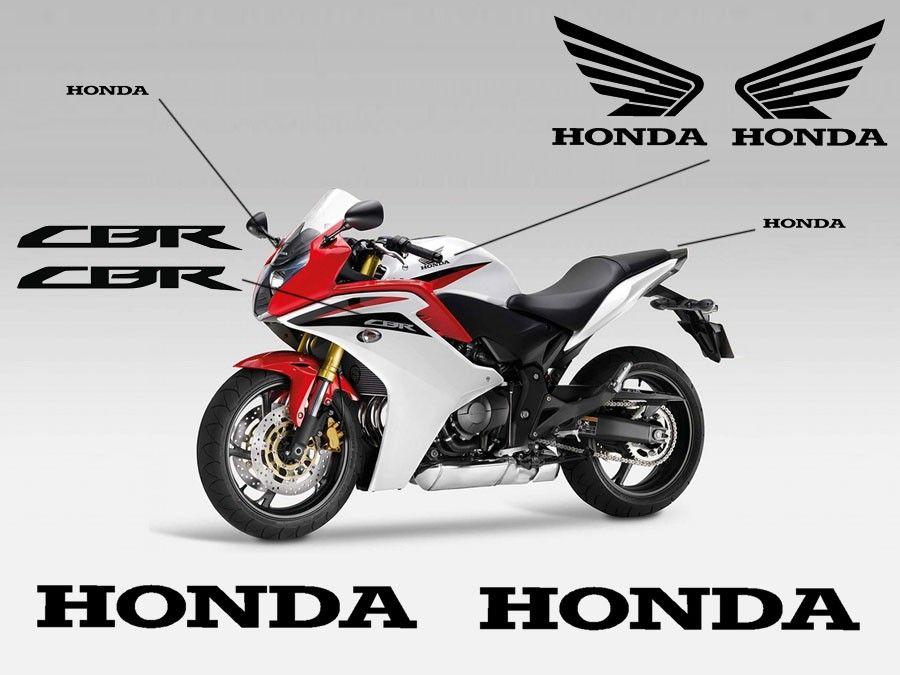 Esquema de adhesivos para el carenado de la Honda CBR600F 2010
