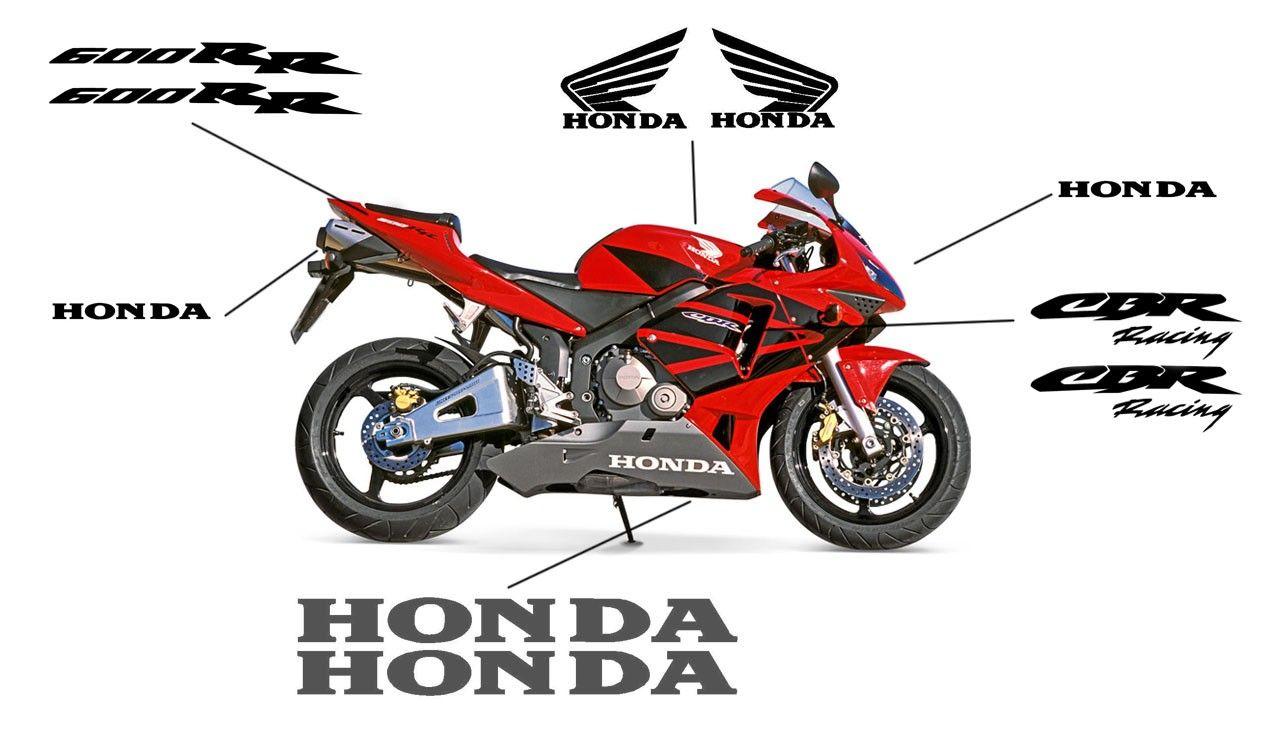 Esquema de los adhesivos para el carenado de la Honda Honda CBR600RR 2006