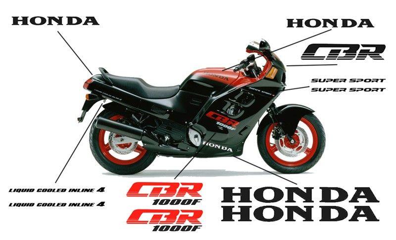 Esquema de las pegatinas para el carenado de la Honda CBR1000F 1987