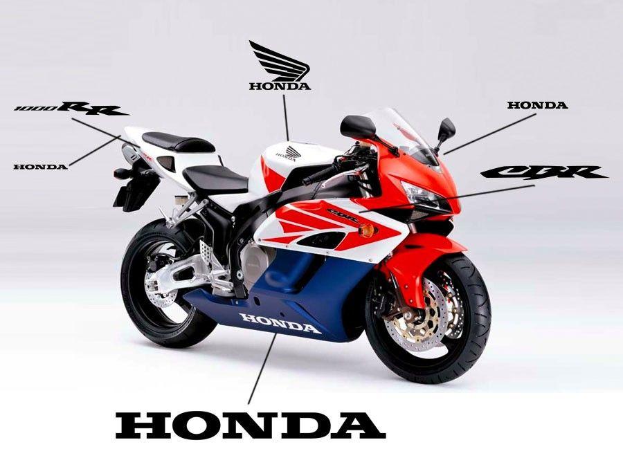 Esquema de adhesivos para el carenado de la Honda CBR1000RR 2004