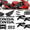Kit de adhesivos y pegatinas para el carenado de la Honda CBR900RR 954 2002