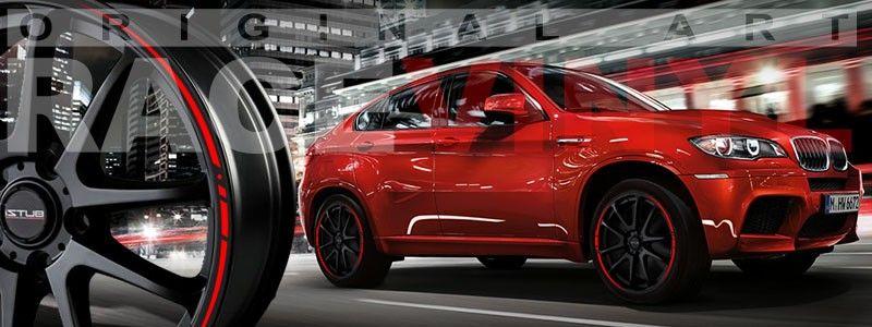 Vinilos para llantas de coche diseño race, adesivos tuning BMW X5