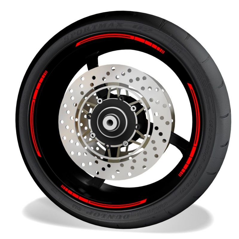 Vinilos Universales para el perfil de las llantas de moto blade rojo