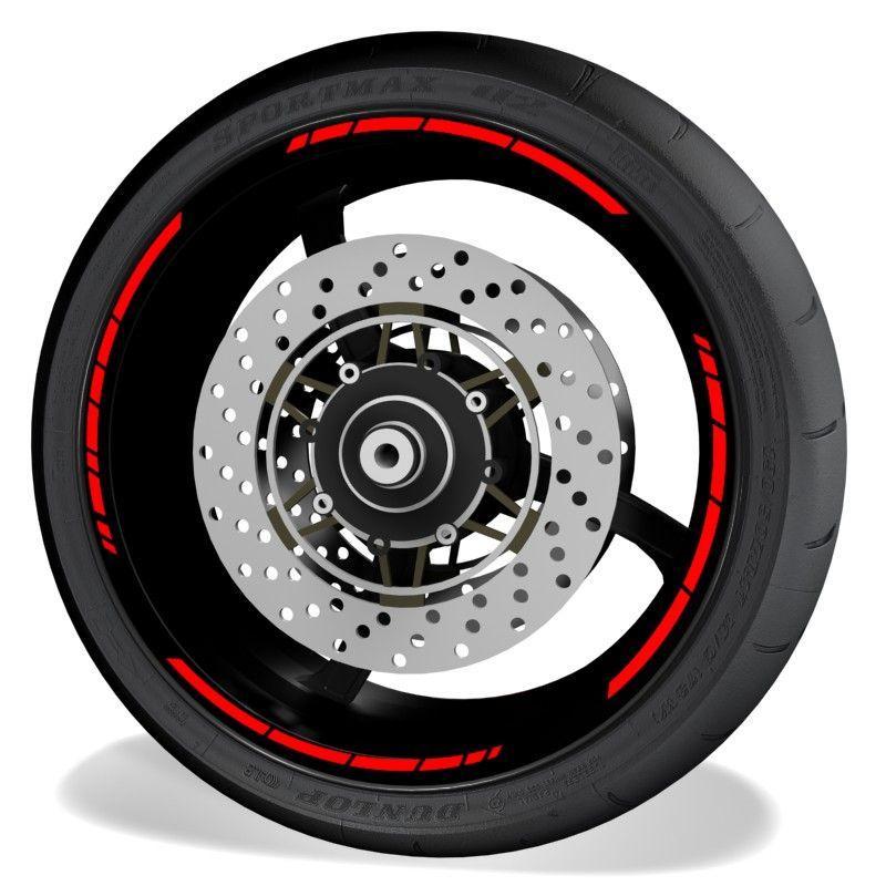 Adhesivos y pegatinas para perfil de llantas de moto Speed sin logo