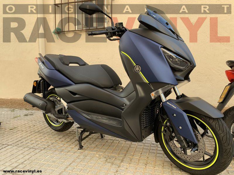 Yamaha XMAX pegatinas para llantas genericas amarillo fluor Ruben Garcia Racevinyl