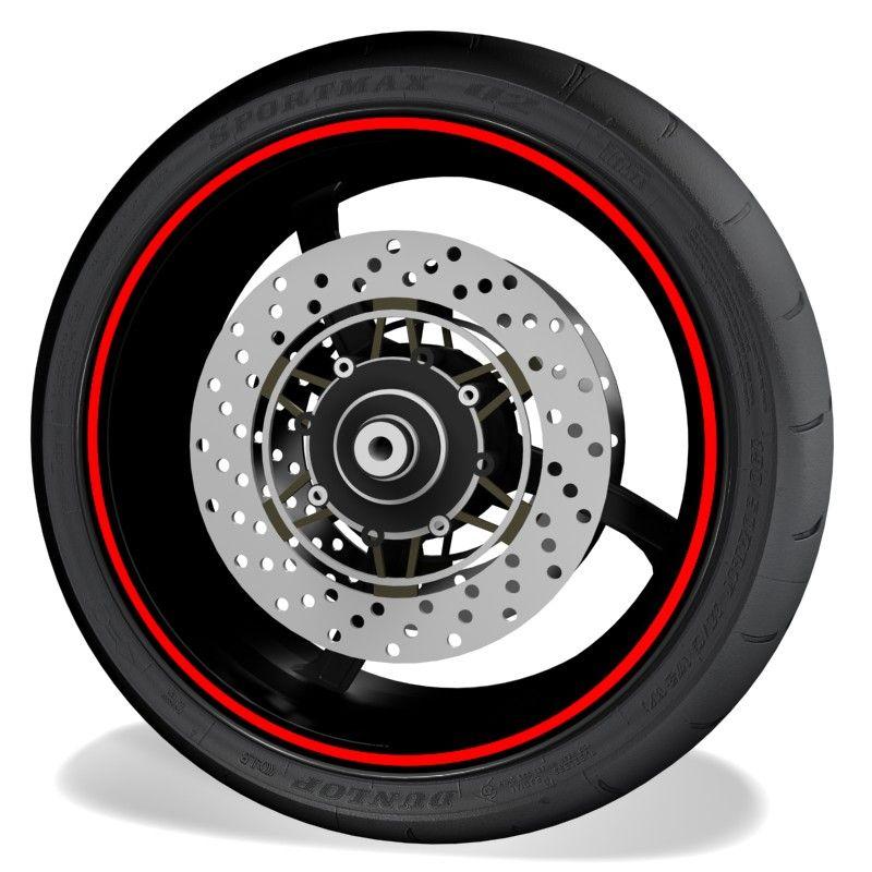 Pegatinas y vinilos para perfil de llantas de moto Genericos sin logo
