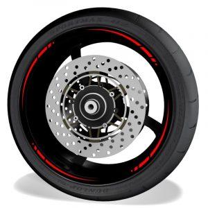 Adhesivos y vinilos para perfil de llantas de moto Spire sin logo rojo