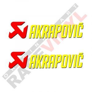 Pegatinas y adhesivos de sponsors para motos logo Akrapovic 2uds