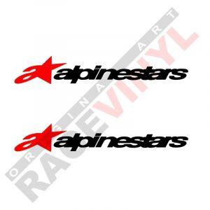 Vinilos y pegatinas de logos y sponsors para motos Alpinestar 2uds
