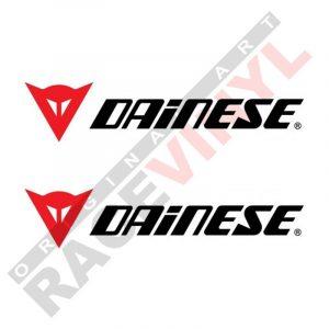 Adhesivos y vinilos de sponsors para motos logo Dainese 2uds