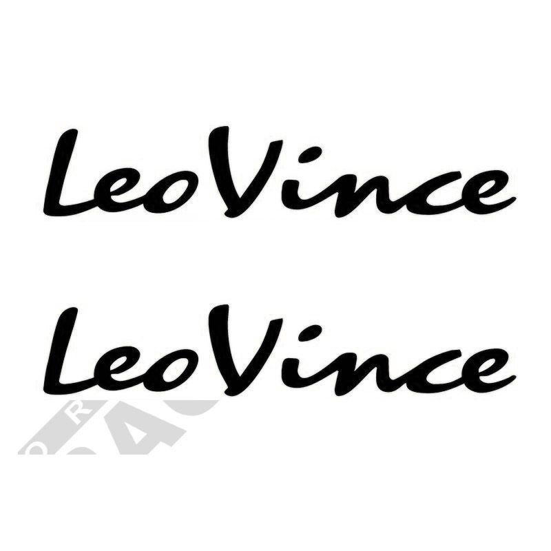 Pegatinas y adhesivos de sponsors para motos logo Leovince 2uds