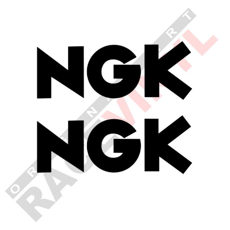 Adhesivos y vinilos de sponsors para motos logo NGK 2uds