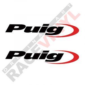 Vinilos y adhesivos de sponsors para motos logo Puig 2uds