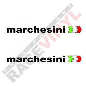 Pegatinas y adhesivos de sponsors para motos logo Marchesini 2uds