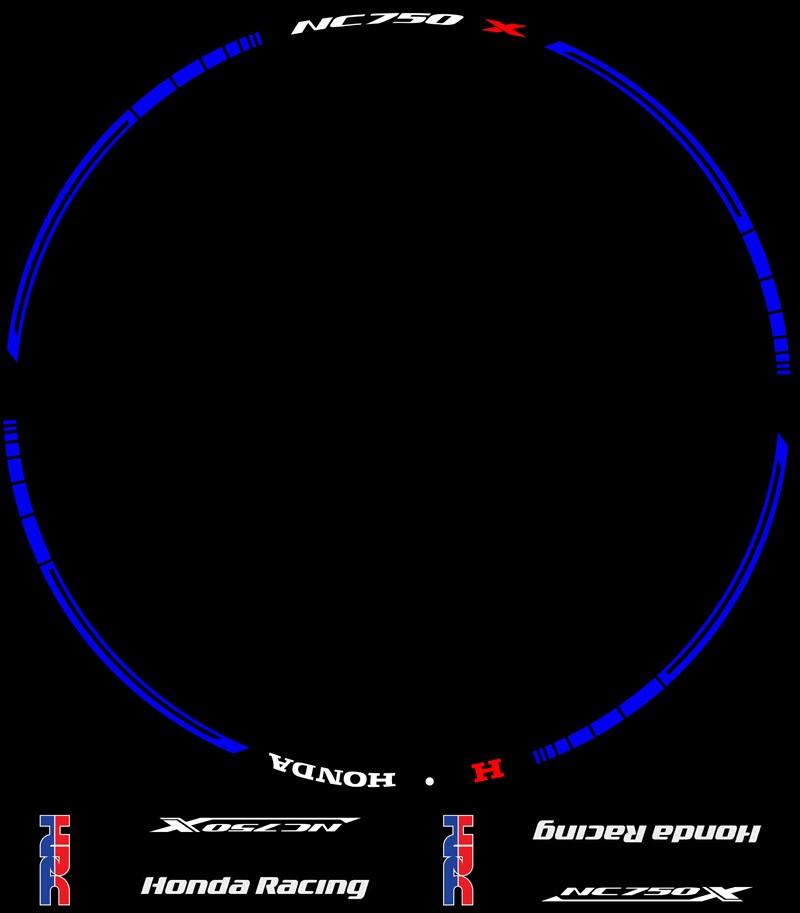 Plantilla contenido Vinilos y adhesivos Kit PRO para motos Honda NC750X