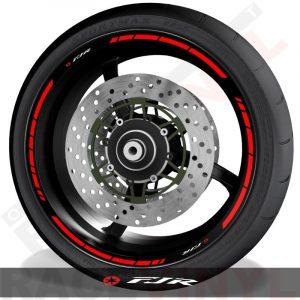 Pegatinas y accesorios de motos adhesivos perfil de llantas Yamaha FJR1300 speed