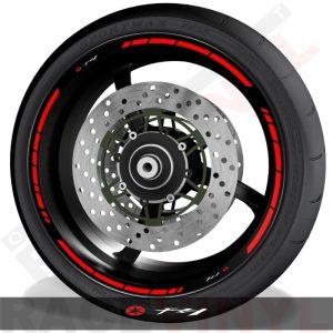 Pegatinas y accesorios para motos vinilos perfil llantas Yamaha FZ1 speed