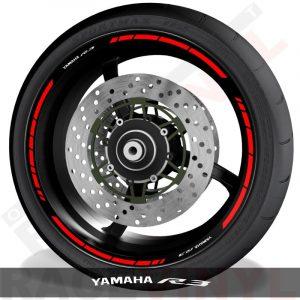 Pegatinas y accesorios de motos vinilos perfil llantas Yamaha R3 speed