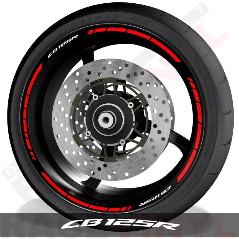Pegatinas y accesorios de motos vinilos perfil llantas Honda CB125R speed
