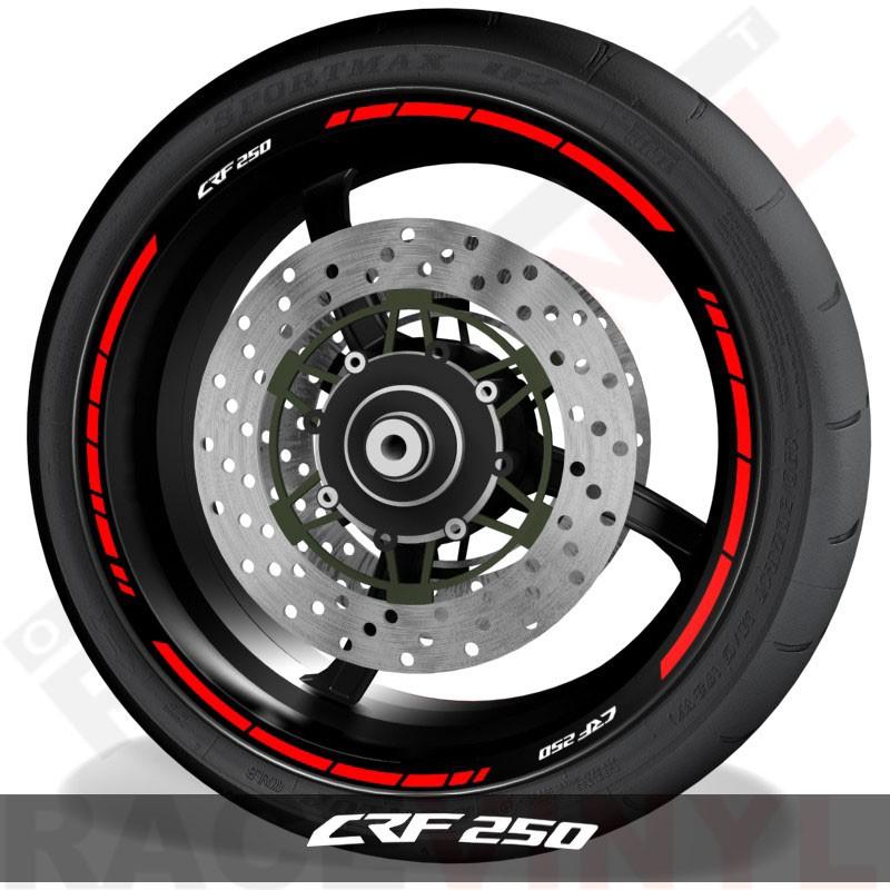 Adhesivos y accesorios para motos pegatinas para perfil de llantas Honda CRF250 speed