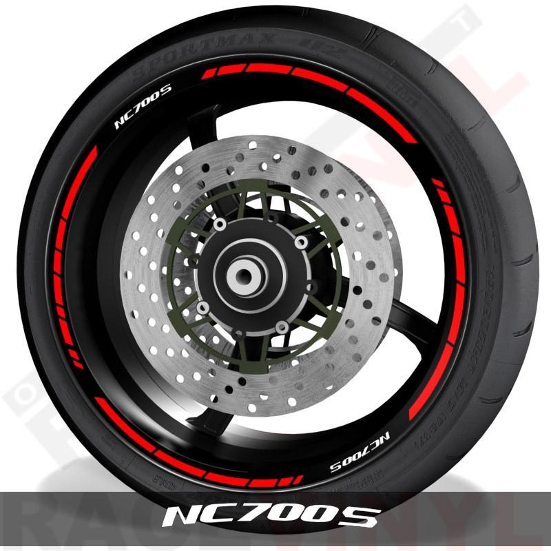 Accesorios y vinilos para motos pegatinas para perfil de llantas Honda NC700S speed