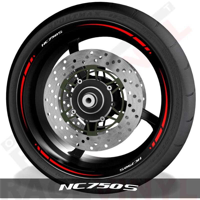 Adhesivos y accesorios para motos pegatinas para perfil de llantas Honda NC750S spire