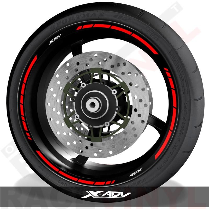 Pegatinas y accesorios para motos adhesivos para perfil de llantas Honda XADV speed