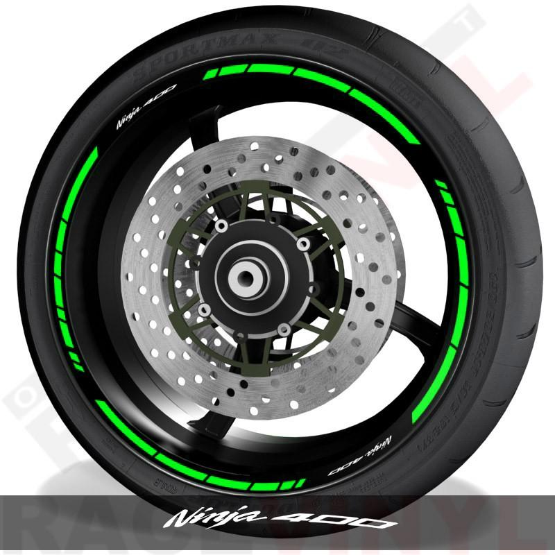 Vinilos y accesorios para motos perfil de llantas Kawasaki Ninja 400 speed
