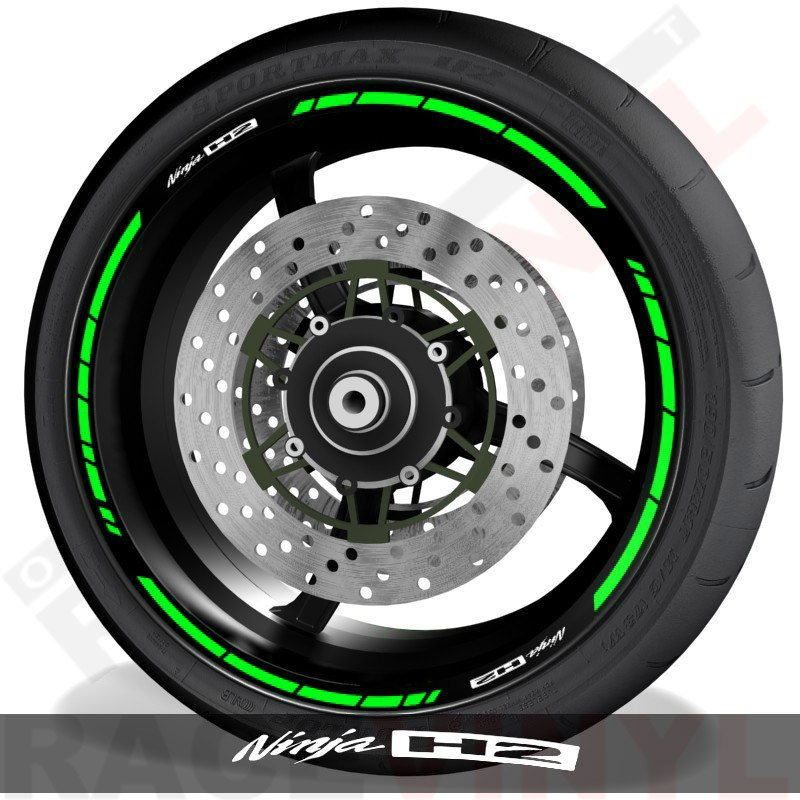 Vinilos y accesorios de motos vinilos perfil llantas Kawasaki Ninja H2 speed