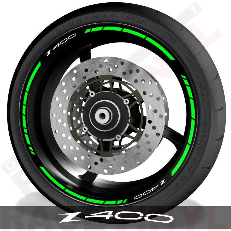 Pegatinas y accesorios de motos vinilos perfil llantas Kawasaki Z400 speed